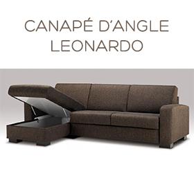 Canapé d'angle Leonardo Luxury Confort Plus