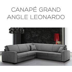 Canapé Grand angle Leonardo Luxury Confort Plus