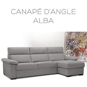 Canapé d'angle Alba