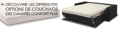Couchage canapé convertible Modulo Confort Plus