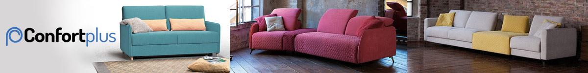 Confort Plus Canapés italiens convertibles, fauteuils, poufs, lits avec coffres de rangement...