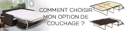 Options de couchage Confort Plus