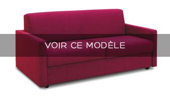 Canapé lit accoudoirs fins Bologne Confort Plus