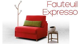Fauteuil lit convertible Expresso Confort Plus