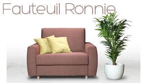 Fauteuil convertible Ronnie Confort Plus