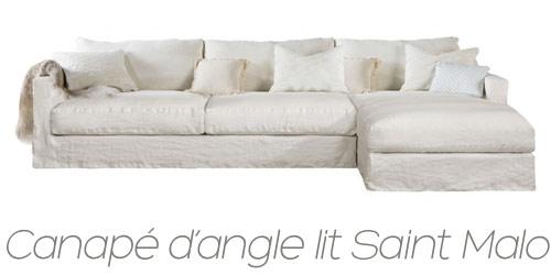 Canapé d'angle lit Saint Malo