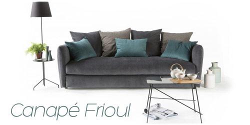 Canapé glamour Frioul