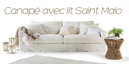 Canapé lit haut de gamme Saint Malo