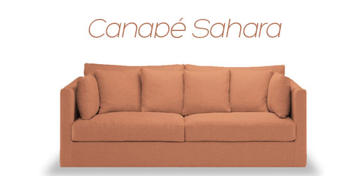 Canapé velours ou lin Sahara
