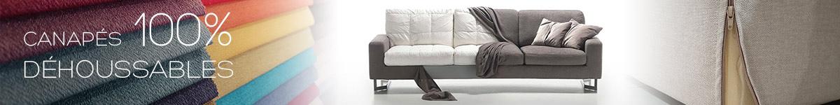 Canapé déhoussable : facile d'entretien et pratique