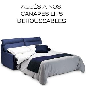 Canapé lit convertible déhoussable