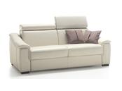Canapé lit à appuis-tête inclinables Polidoro matelas 18 cm