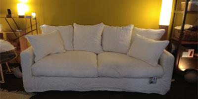 Canapé en lin froissé Bohème Home Spirit