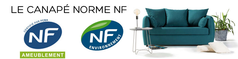 Canapé norme NF