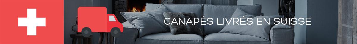 Canapé livré en Suisse