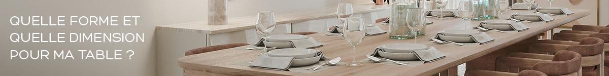 Quelle forme et quelle taille pour ma table de repas ou de bar ?