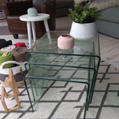 Table basse gigogne en verre
