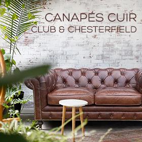 Canapés en cuir, Club et Chesterfield