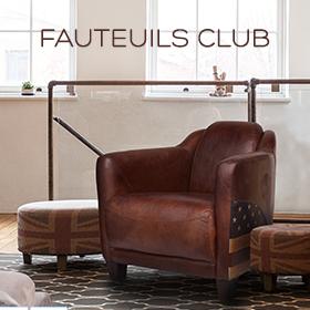 Fauteuil Club et cuir