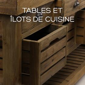 Tables de repas et îlots de cuisine