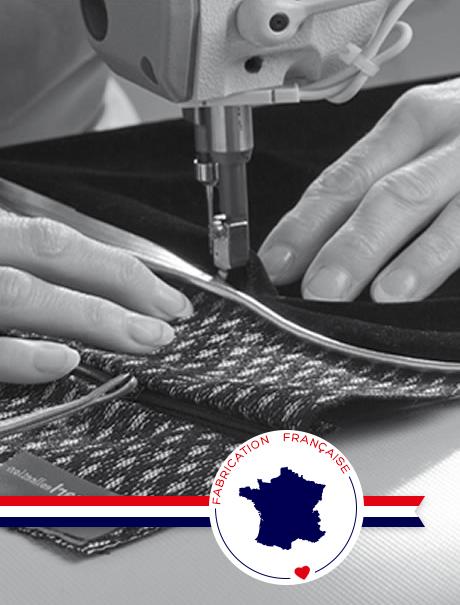 Fabrication française textile déco coussins plaids tapis rideaux