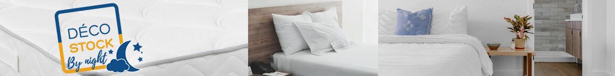 Décostock by night : literie, matelas, sommiers fabriqués en France, chambre, hôtellerie, particuliers ou professionnels