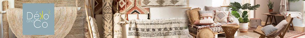 Déko and Co : tapis en jute, tapis berbères, poufs et coussins de sol, miroirs...