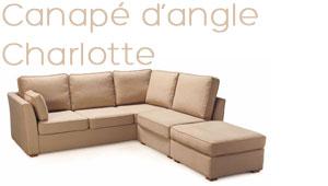 Canapé d'angle Charlotte livraison rapide