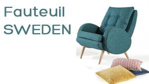 Fauteuil scandinave Sweden livraison rapide