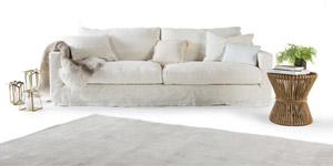 Canapé lit en lin froissé Saint Malo Home Spirit