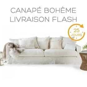 Canapé Bohème Livraison Flash rapide