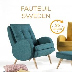 Fauteuil Sweden Livraison rapide Flash