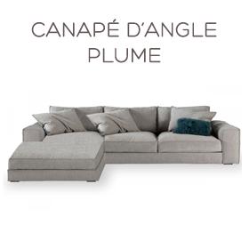 Canapé d'angle Plume