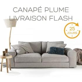 Canapé Plume livraison rapide Flash