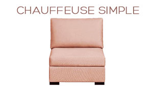 Chauffeuse simple Chic Home Spirit