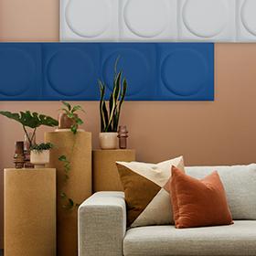 Dalles acoustiques satinées ou texturées couleurs