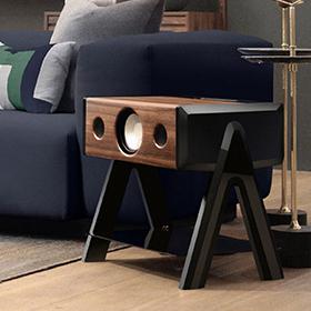 Enceinte design Cube avec son immersif et naturel.