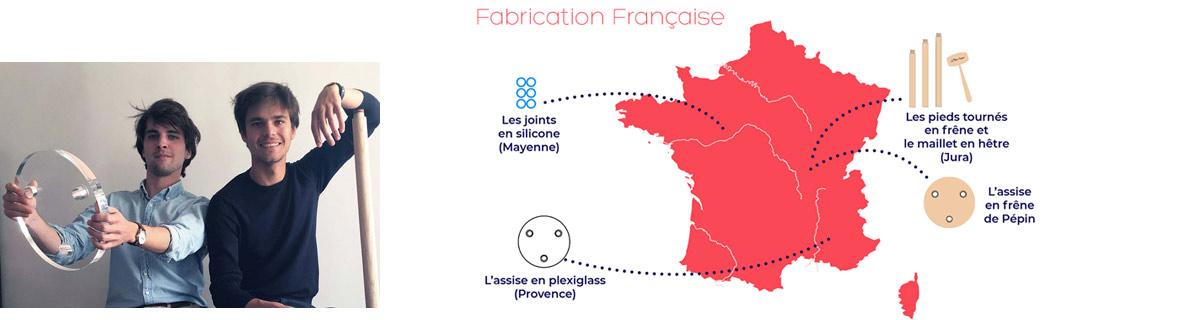 La Chaise Française - Bartolomé et Jean-Baptiste - Fabrication en France
