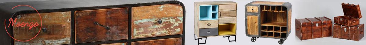 Moengo petit mobilier design industriel vintage et exotique