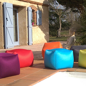 Pouf cube Lisburn outdoor by Shelto