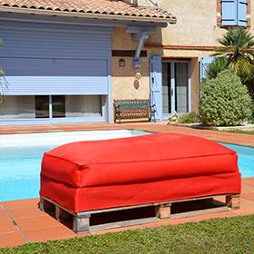 Pouf Sofa-Palette by Shelto