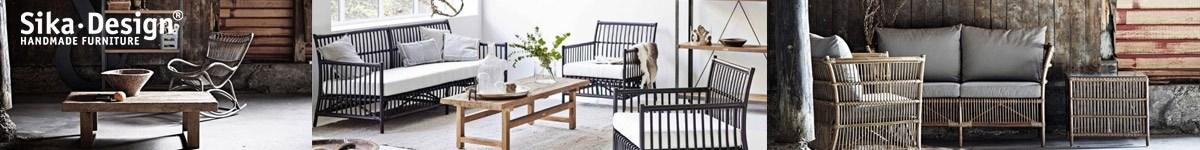Sika Design, mobilier vintage scandinave en rotin, teck et résine tressée