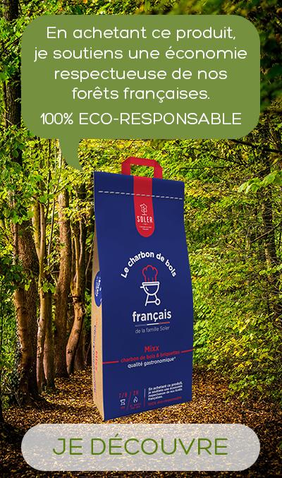 Mixx charbon de bois et briquette produit 100% français et éco-responsable