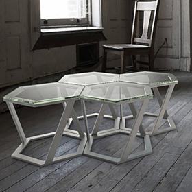 Tables basses en verre de la marque Table Concept