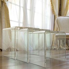 Tables basses Gigogne Tierce en verre de la marque Table Concept