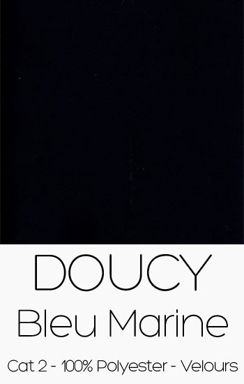Doucy velours Bleu Marine